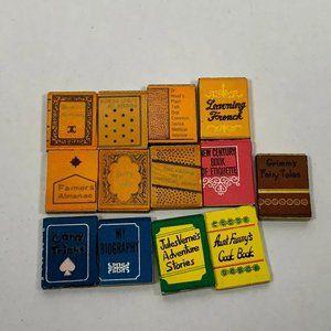 VINTAGE STYLE BOOKS Set of 11 Prop Books Miniature
